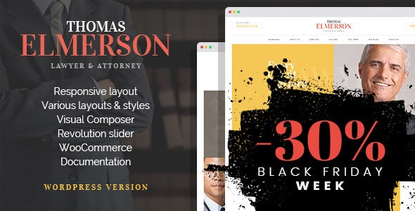 Lawyer & Attorney - Personal Lawyer and Law company WordPress Theme - Business Corporate