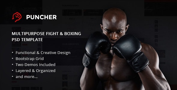 Puncher -  Multipurpose Fight & Boxing PSD Template - Health & Beauty Retail