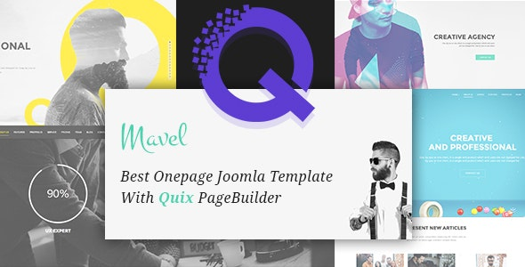 Mavel - Best Onepage Joomla Template With Quix PageBuilder by