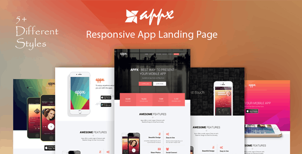 Appx - Responsive App Landing Page - Apps Technology