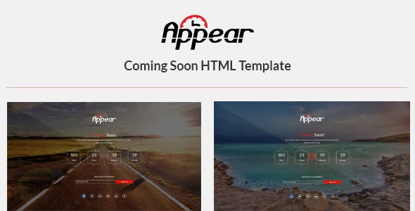 Appear - Coming Soon HTML Template