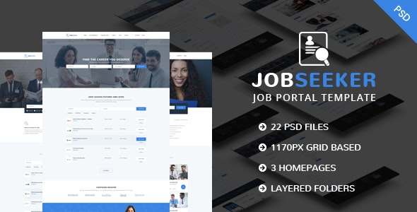 JobSeeker - Job Portal PSD Template - Business Corporate