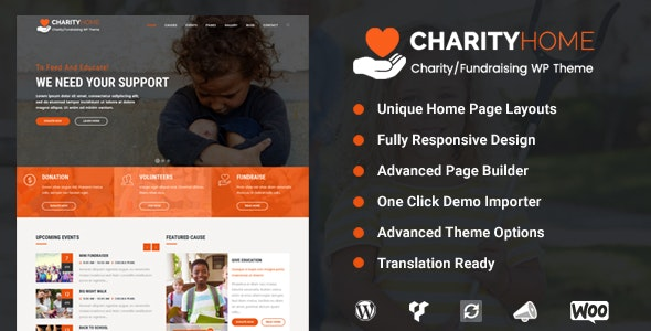 Charity Home - Fundraising WordPress Theme - Charity Nonprofit