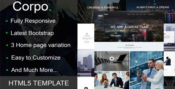 Corpo - HTML5 Responsive Multi-Purpose Template - Corporate Site Templates