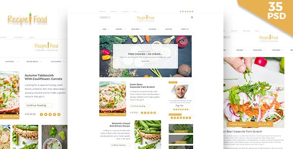 Recipe & Food - PSD Template - Food Retail
