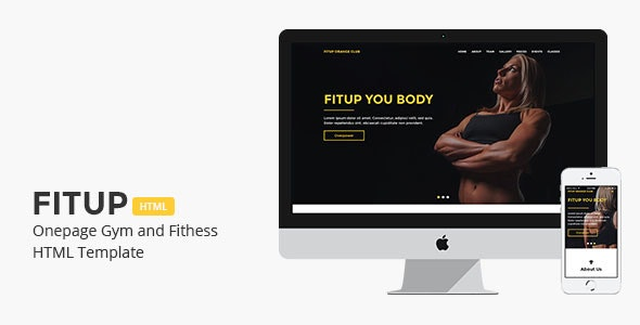 Fitup - Onepage Gym and Fitness HTML Template - Health & Beauty Retail