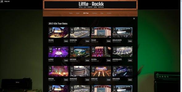 Little Rockk Country Music HTML Template