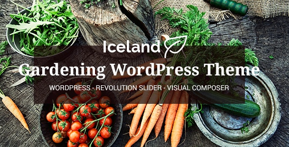 Iceland - Garden, Landscape Responsive WP Theme - Business Corporate