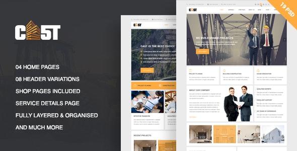 CAST - A Construction & Business PSD Template - Business Corporate