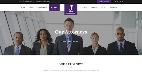 Judge - Lawyer, Attorney and Law Firm PSD Template