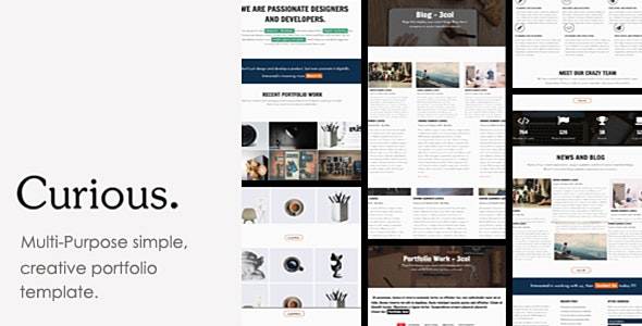 Curious - Agency, Freelancer and Personal Portfolio Template. - Creative Site Templates