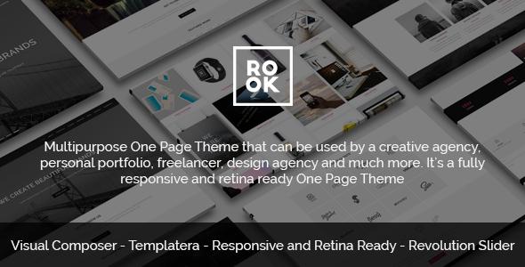 ROOK - Multipurpose Onepage Retina Theme - Portfolio Creative