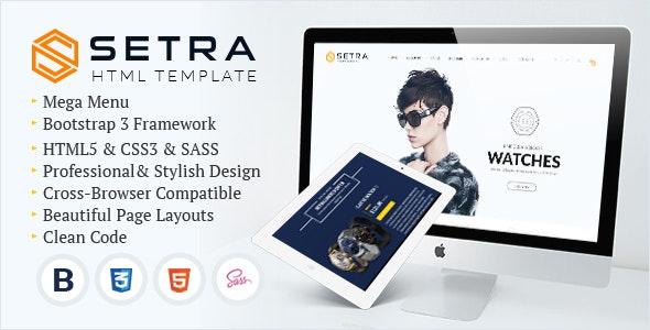 Setra - e-Commerce Website Template - Corporate Site Templates