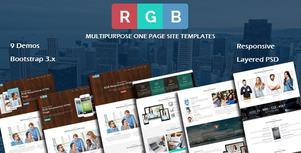 RGB - MultiPurpose Responsive HTML Site Template - Corporate Site Templates