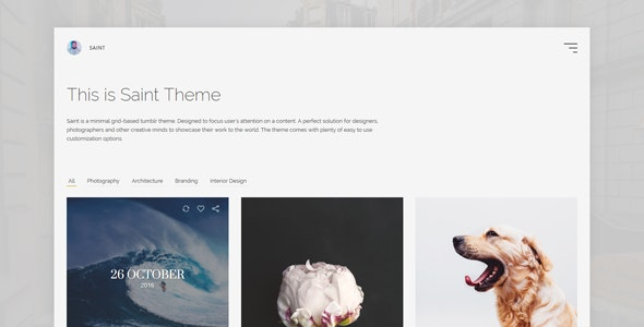 Saint - Minimal Grid Based Tumblr Theme - Tumblr Blogging