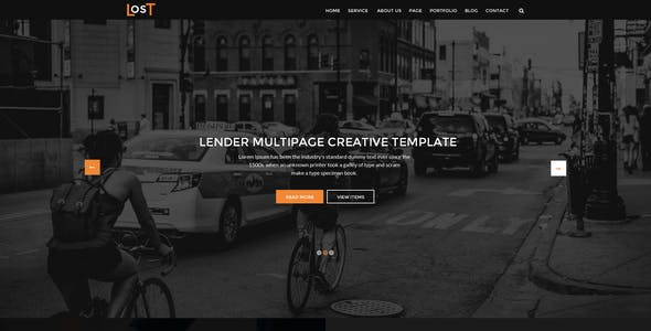lost-one page psd template