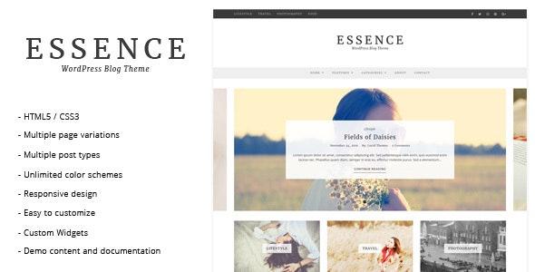 Essence - WordPress Blog Theme - Personal Blog / Magazine