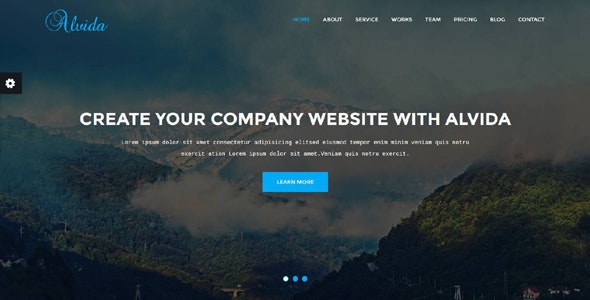 Alvida - One Page Business Template - Technology Site Templates