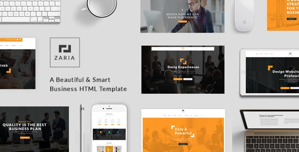 Zaria - A Beautiful & Smart Business HTML Template - Corporate Site Templates