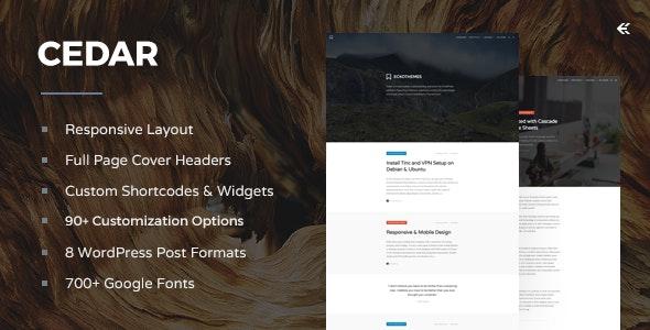 Cedar - Responsive WordPress Blog Theme - Personal Blog / Magazine