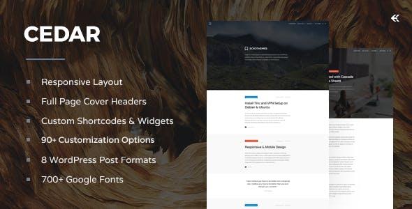 Cedar - Responsive WordPress Blog Theme