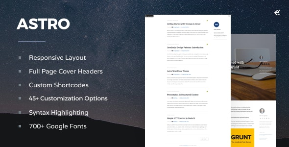 Astro - Responsive WordPress Blog Theme by EckoThemes | ThemeForest