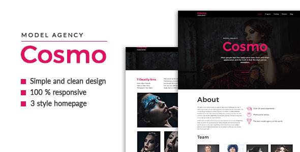 Cosmo — Model Agency HTML5 Template - Portfolio Creative