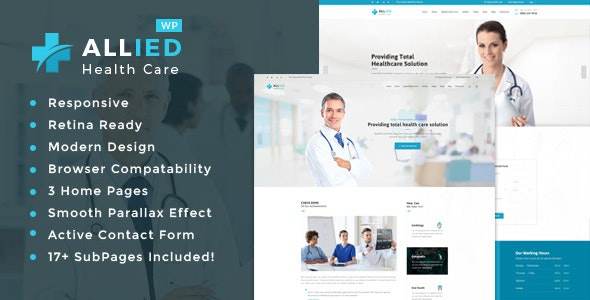 Allied Health Care - Health And Medical WordPress Theme - Health & Beauty Retail