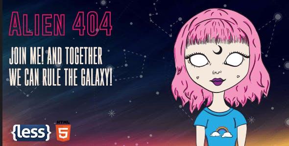 Alien - Animated Error 404 Page