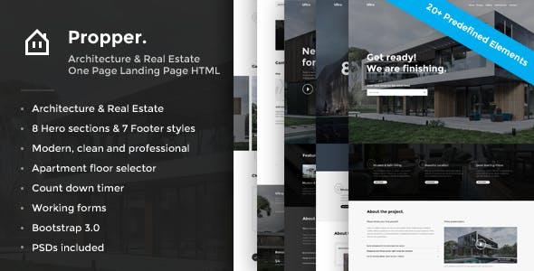Propper - Responsive Architecture Template