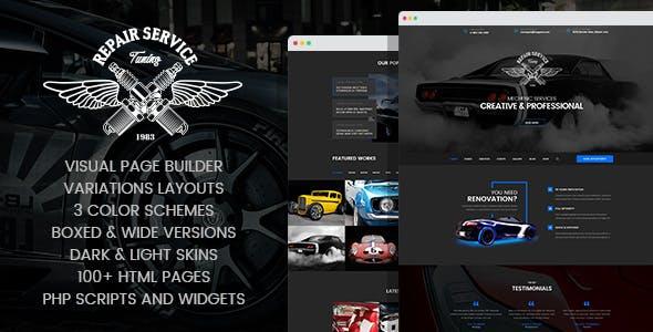 Mechanic - Car Repair & Routine Maintenance HTML Template with Visual Builder