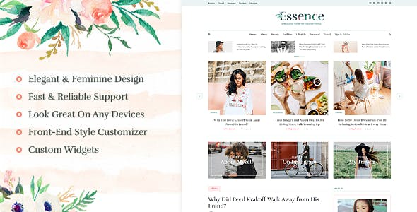The Essence - A Responsive WordPress Blog Theme