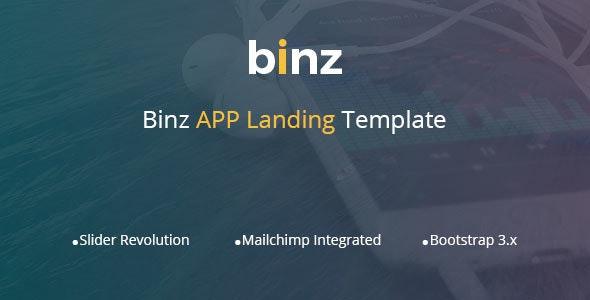 Binz App Landing Template - Technology Site Templates
