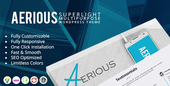 Aerious - Super Light Multipurpose WordPress Theme - Corporate WordPress