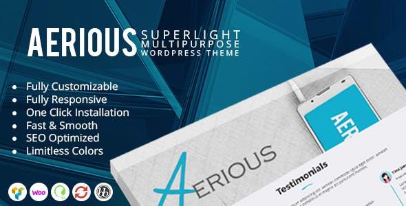 Aerious - Super Light Multipurpose WordPress Theme