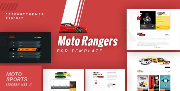 Moto Rangers Psd Template