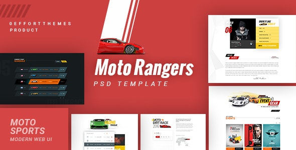 Moto Rangers | PSD Template - Events Entertainment