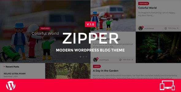 Zipper - Modern WordPress Blog Theme - Personal Blog / Magazine