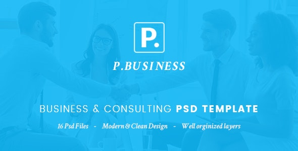 P.Business - Business & Consulting PSD Template - Business Corporate