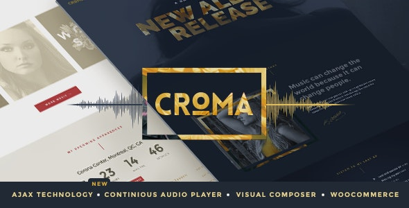 Croma - Music WordPress Theme with Ajax and Continuous Playback - Music and Bands Entertainment