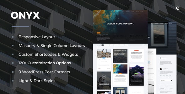 Onyx - Responsive WordPress Blog Theme - Personal Blog / Magazine