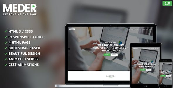 Meder - One Page Responsive Template