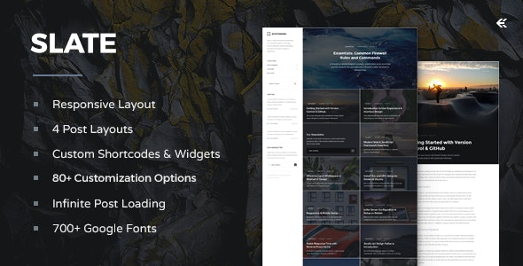 Slate - Responsive WordPress Blog Theme - Personal Blog / Magazine