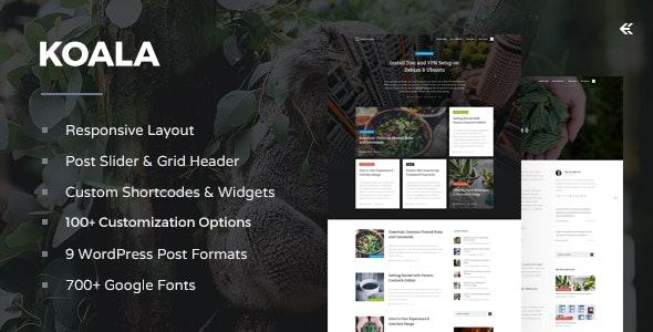 Koala - Responsive WordPress Blog Theme - Personal Blog / Magazine