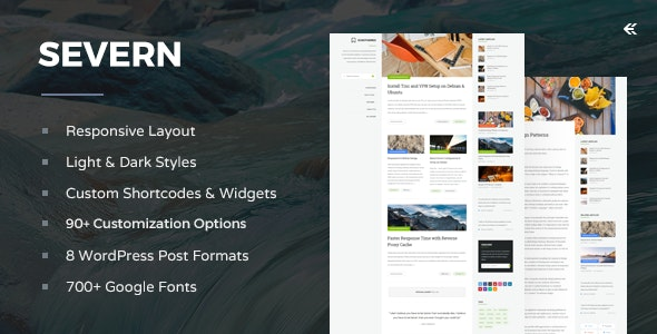 Severn - Responsive WordPress Blog Theme - Personal Blog / Magazine