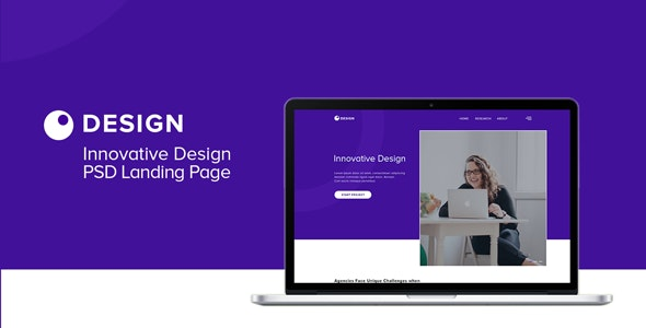 Innovative Design PSD Landing Page Template - PSD Templates