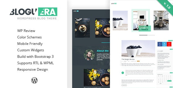 Bloguera - Responsive WordPress Personal Blog Theme - Personal Blog / Magazine