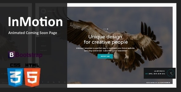 InMotion - Animated Coming Soon Template - Under Construction Specialty Pages
