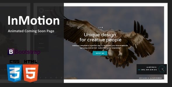 InMotion - Animated Coming Soon Template