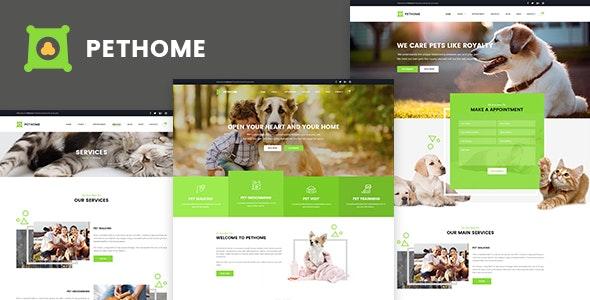 Pet Home - Pet Care PSD Templates - Business Corporate